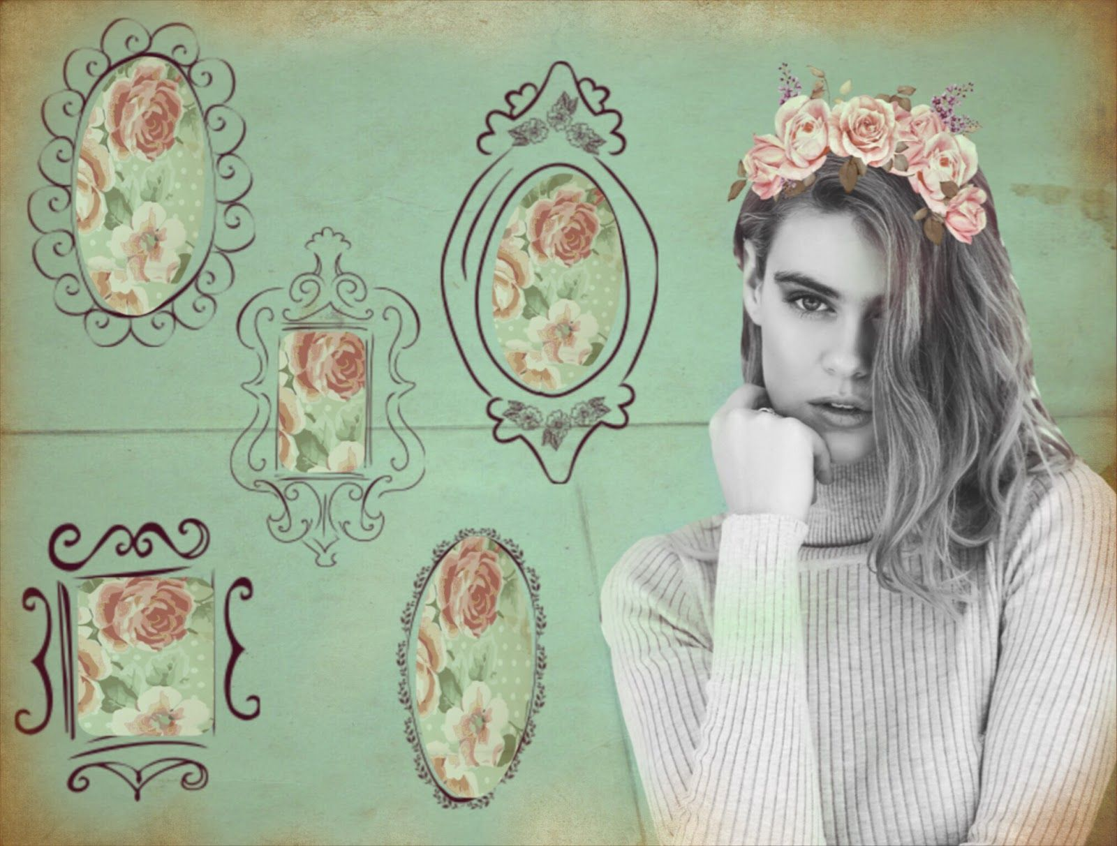 How to nail shabby chic give your photos antique allure the flower crown izmirmasajfo