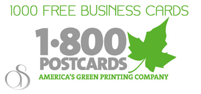 Win 1000 Free Business Cards From 1800PostCards.com