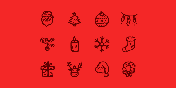12 Christmas Line Icons Create Beautiful Designs for this Season