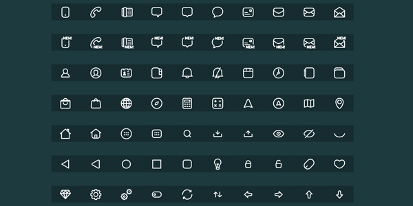 180 Minimalistic Icons for Apple's New iOS 8