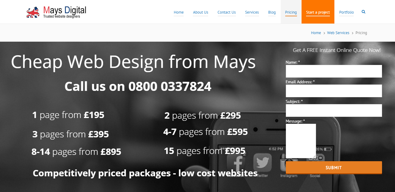 Business Kickstart Giveaway: FREE Web Design, Domain, and Hosting from Mays Digital