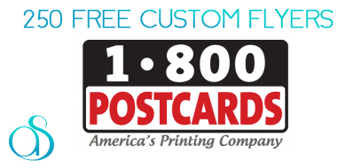 250 Custom Flyers for Free from 1800Postcards.com!