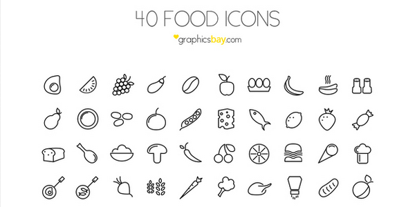 40 Food Icons for Times When You're Design Hungry