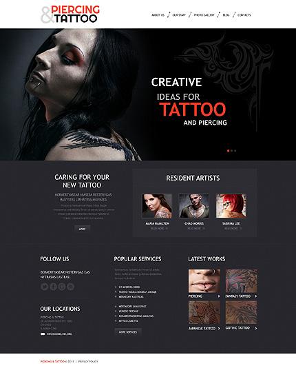 Tattoo Art Salon WordPress Theme