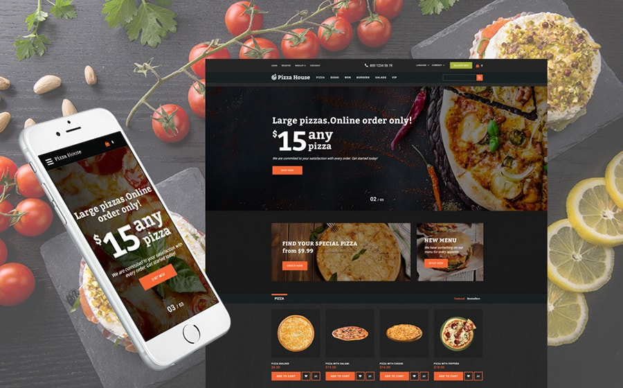 Fooder - Advanced Pizza Restaurant OpenCart Theme