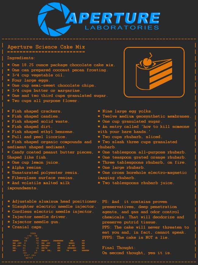 Portal Cake Mix