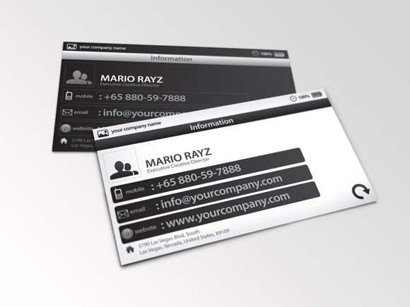 30 inspirational examples of black and white business card designs personal trainer card reheart Gallery