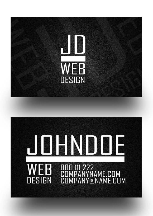 30 inspirational examples of black and white business card designs hitmans business card wajeb Choice Image