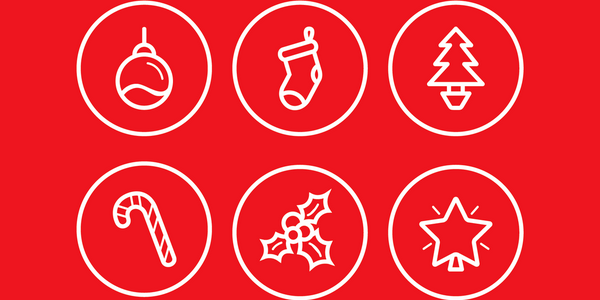 Modern Minimal Christmas Icons with Classic Figures