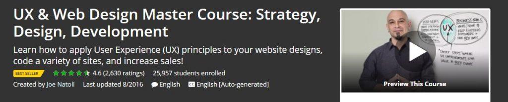 UX & Web Design Master Course Strategy Design Development
