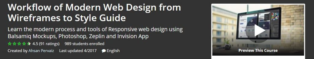 Workflow of Modern Web Design from Wireframes to Style Guide