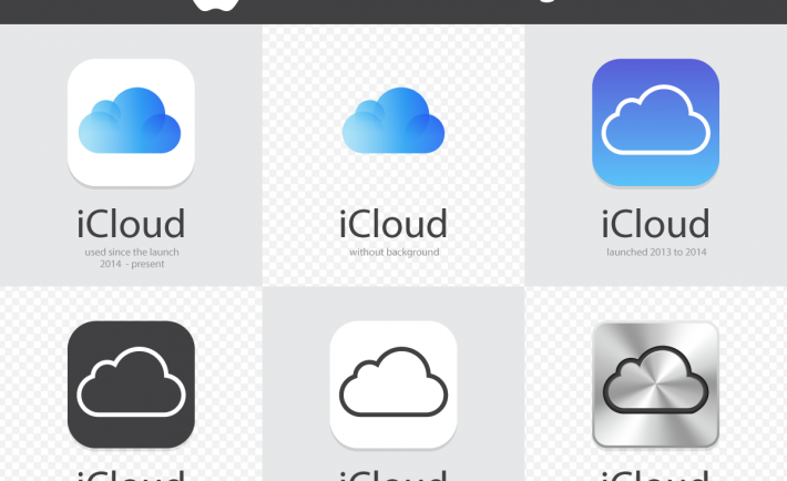 free exclusive vector illustration apple icloud logos