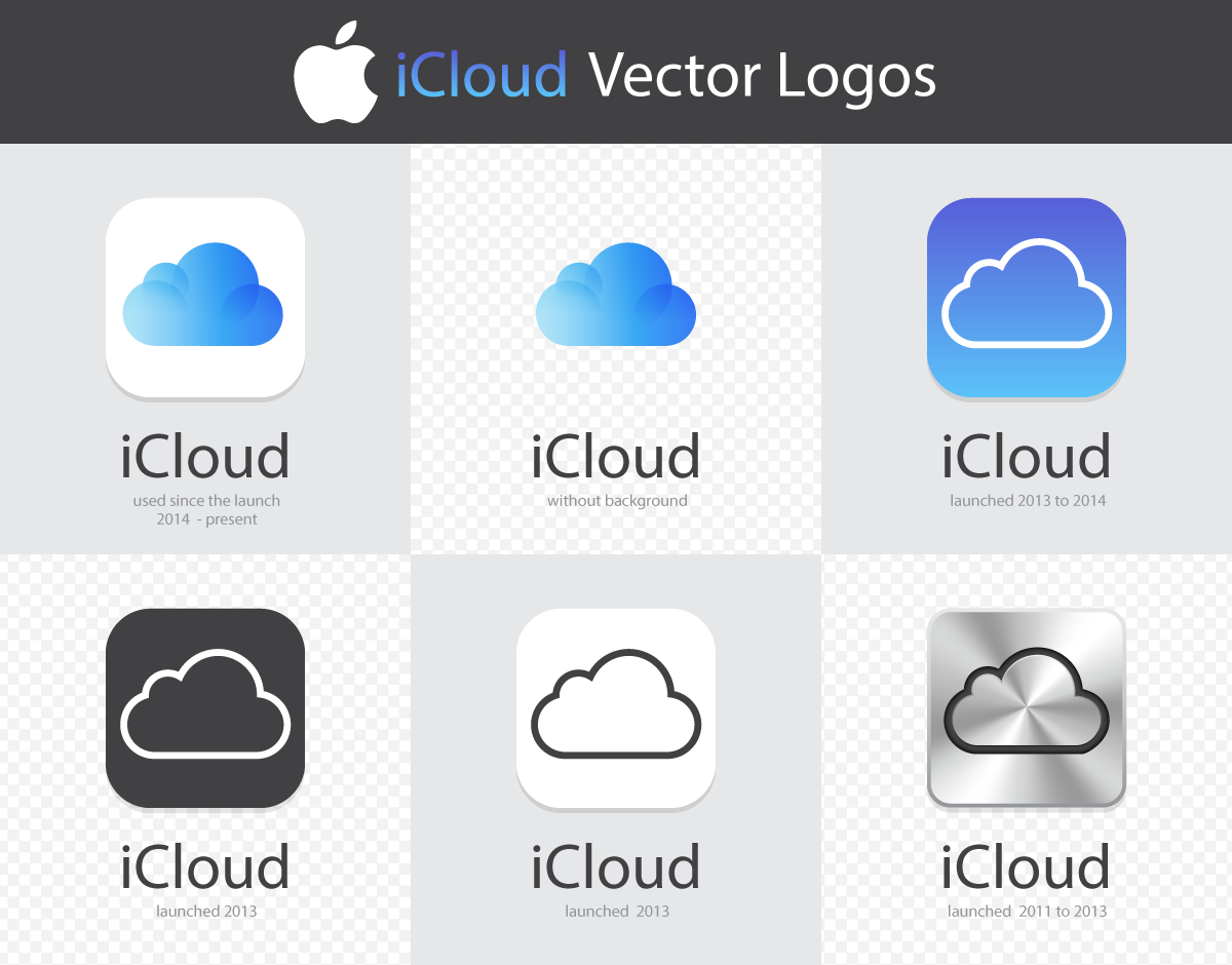 FREE EXCLUSIVE VECTOR ILLUSTRATION: Apple iCloud Logos