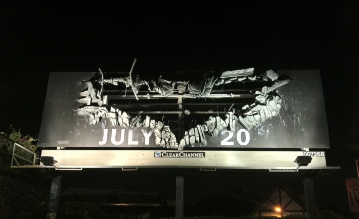 awesome-The Dark Knight Rises Batman Billboard