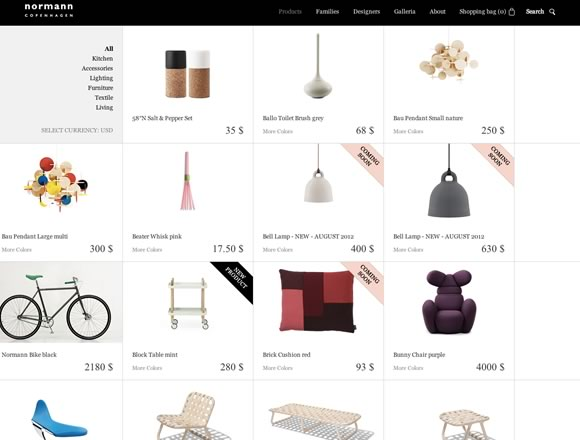 21 Beautifully Designed E-commerce Sites