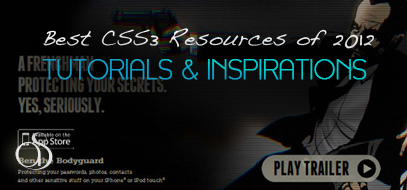 Best (so far) CSS3 Tutorials, Inspirations & Resources of 2012
