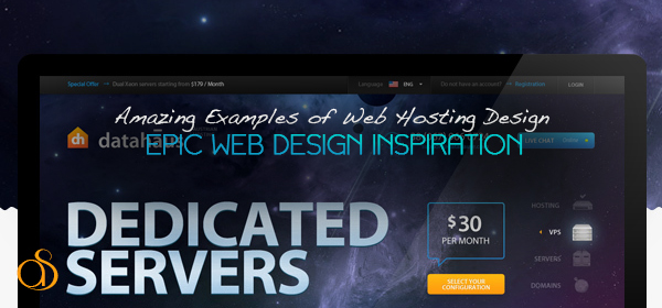 20+ Inspirational Web Hosting Designs