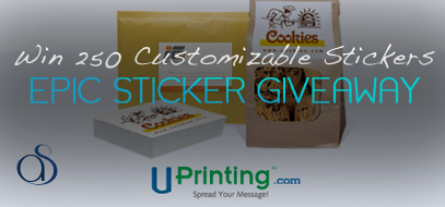 Epic Giveaway – Win 250 Customizable Stickers from Uprinting for FREE!