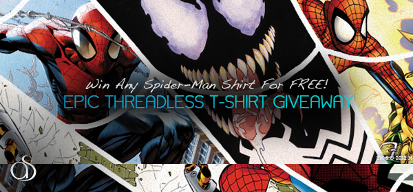 Epic Threadless T-Shirt Giveaway – Win Any Spider-Man Shirt For FREE!