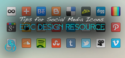Simple Web Design Tips for Social Media Icons