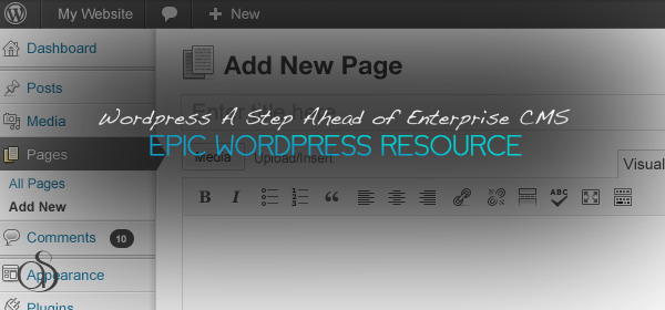 WordPress a Step Ahead of Enterprise CMS