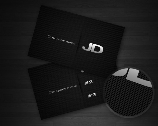 25 fascinating psd business card templates carbon business card template flashek Image collections