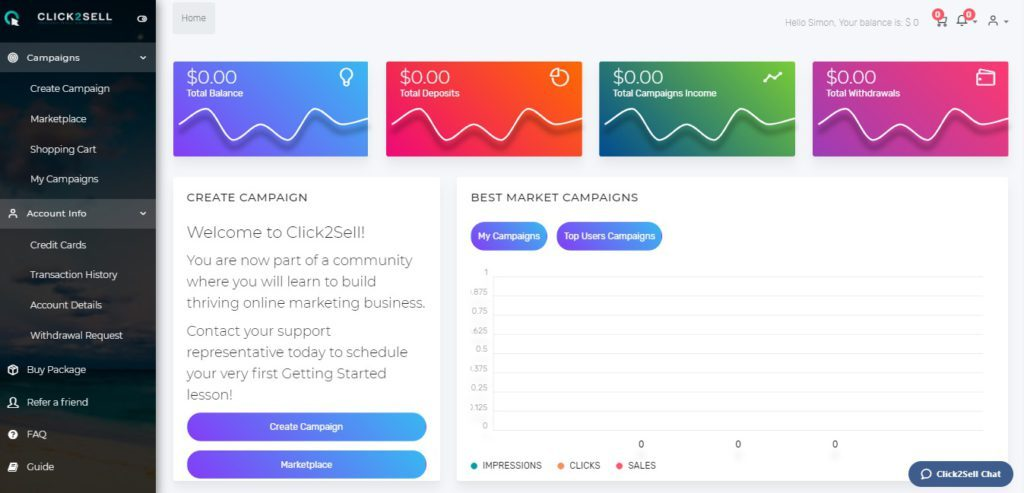 click2sell-dashboard
