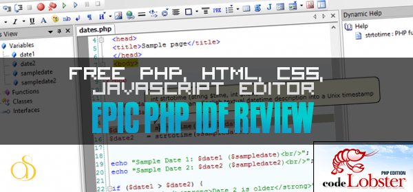 Codelobster Review – Free PHP, HTML, CSS, JavaScript editor (IDE)