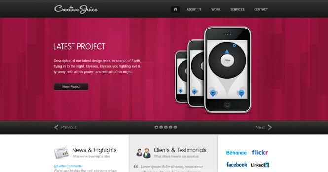 Portfolio WordPress Theme - Creative Juice