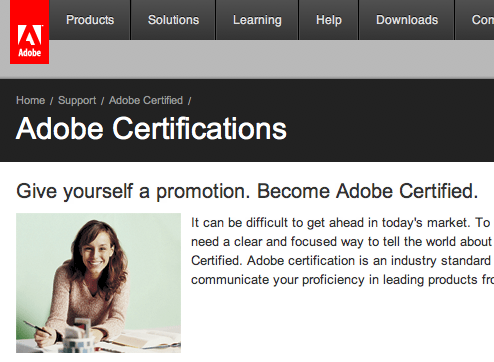 how to get adobe certified