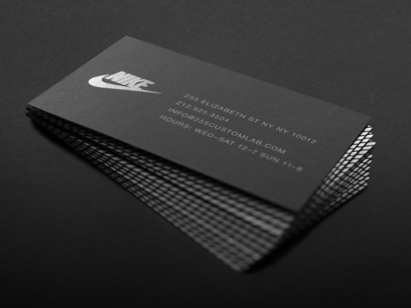 30 fresh creative custom business card design inspirations for Nike business card