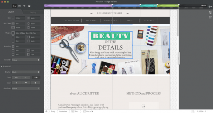 adobe website design tools