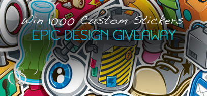 Win 1000 Custom Stickers from 1800Postcards.com!