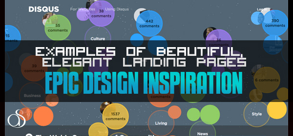 Examples of Beautiful, Elegant Landing Pages