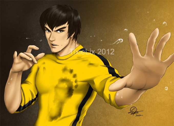 always love how almost every fighting game has a bruce lee character