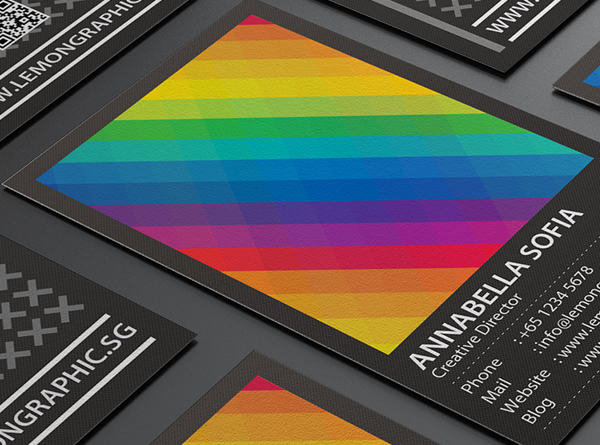 20 flat style business card examples and reheart Images