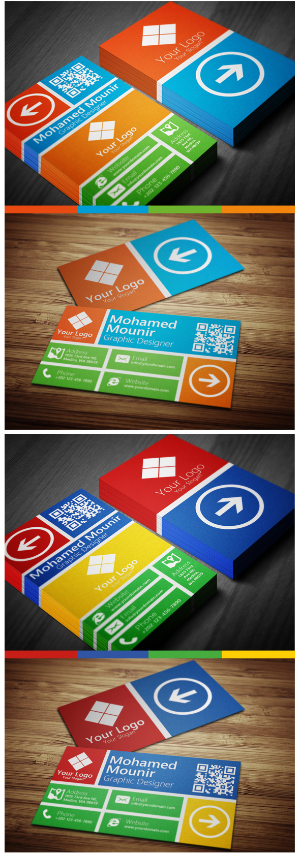 20 flat style business card examples this is actually an awesome business card magicingreecefo Gallery