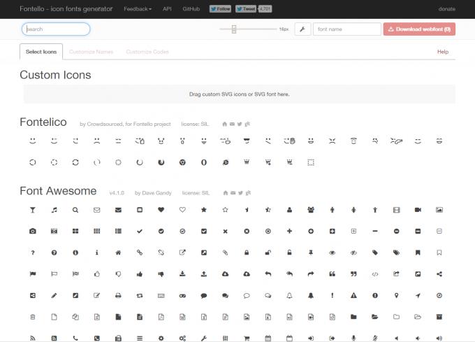 fontello-free-icon-font-generator