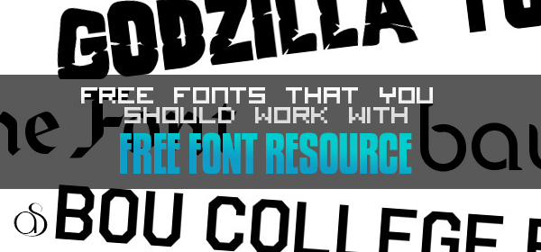 20 Free Fonts That You Should Work With