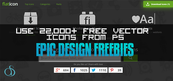 Flaticon.com: Use 22,000+ Free Vector Icons (SVG, PNG, or PSD) from within Adobe Photoshop