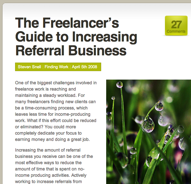 The Freelancer's Guide to Increasing Referral Business