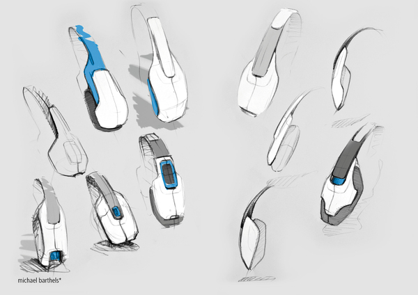 Cool Headphone Concept Design Sketches From The Same Sketch Artist