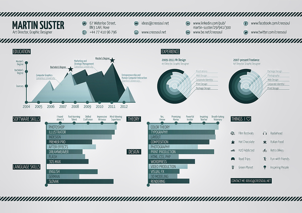 Infographic Resume infographic resume builder : How To Design An Appealing Infographic Resume