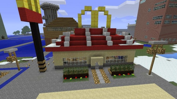 Finally finished with my McDonalds building! - Creative Mode ...