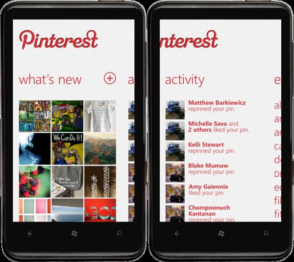 Pinterest app for windows