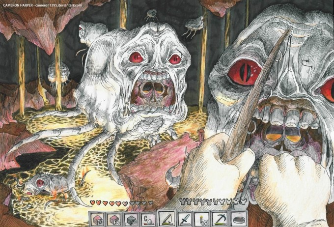 more freaking horrific perfectly illustrated minecraft art epicness ...