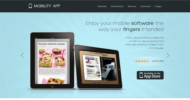 Mobile WordPress Theme - MobilityApp