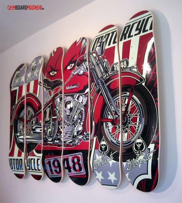 Pics For Skateboard Deck Wall Art