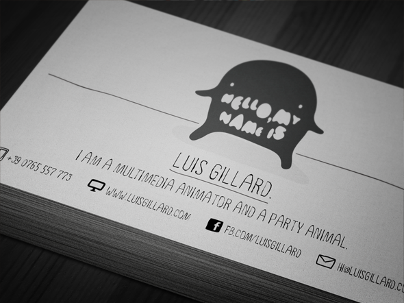 50 epic psd business card template files for Artist business card examples