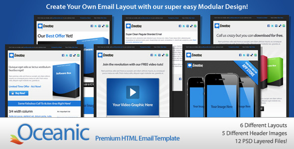 oceanic html email template